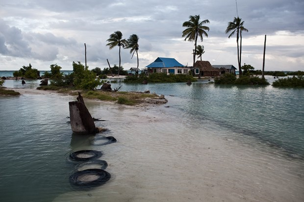 Already Kiribati is suffering from sea level rise. They are currently negotiating with Fiji to by land for relocation. (Ciril Jazbec)