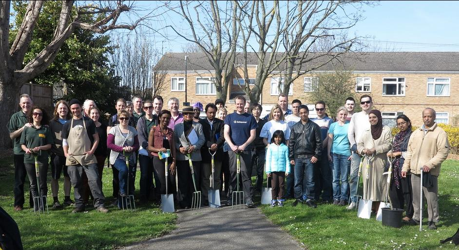 Local groups and neighbours came out to plant fruit trees as part of Dig Merton