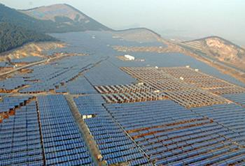 China's largest solar farm in Xuzhou City, Jiangsu, a 20 MW facility